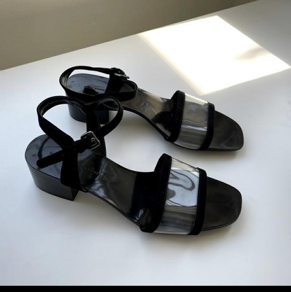 Zara black block heel